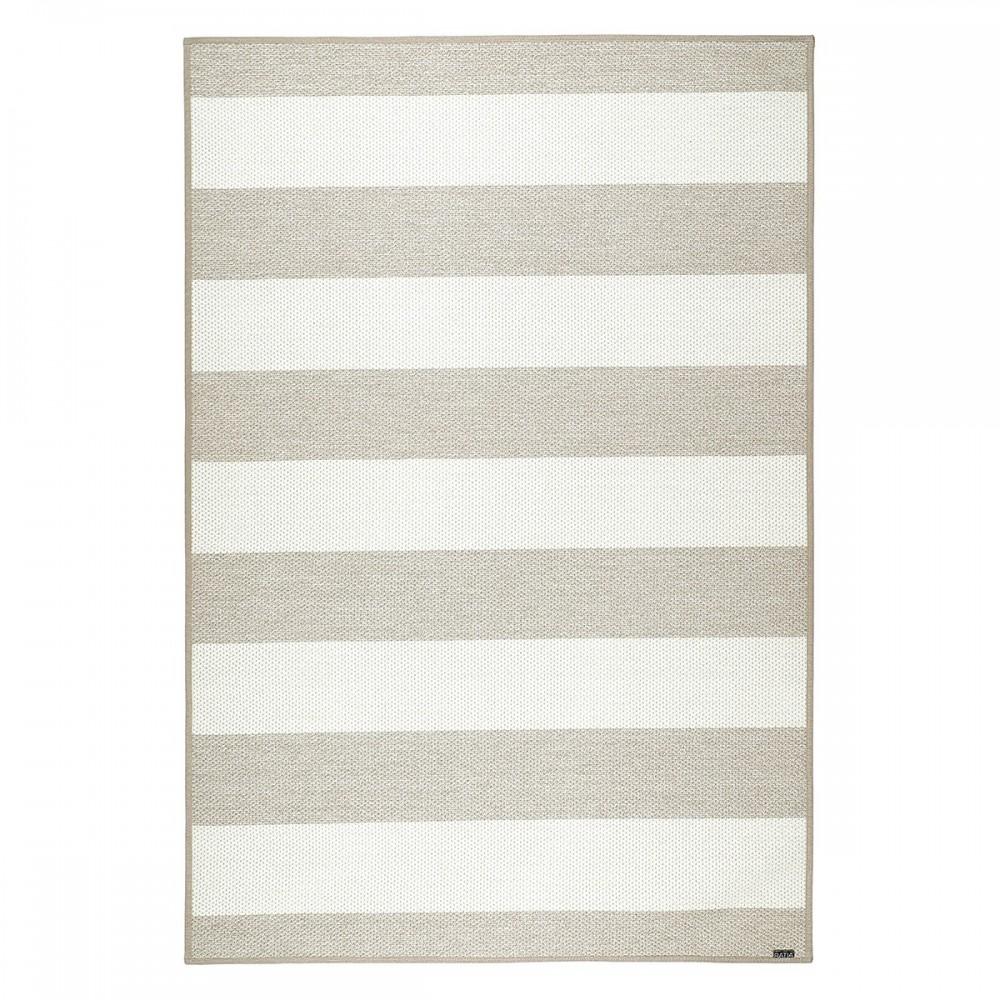 Béžovo-bílý kusový koberec Viiva finské značky VM-Carpet z vlny, papírového vlákna a lnu