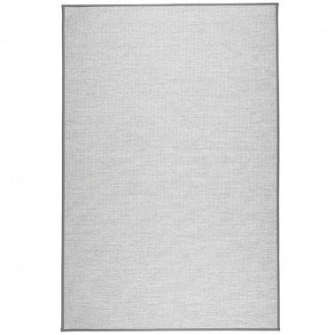 Sivý kusový koberec Aho fínskej značky VM-Carpet z vlny, papierového vlákna a ľanu