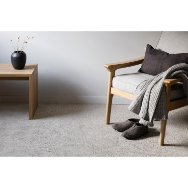 Béžový kusový koberec Viita finské značky VM-Carpet z vlny a lnu