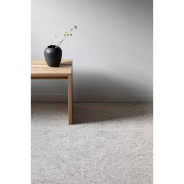 Béžový kusový koberec Viita fínskej značky VM-Carpet z vlny a ľanu
