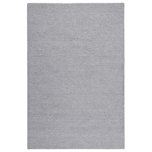 Sivý kusový koberec Viita fínskej značky VM-Carpet z vlny a ľanu