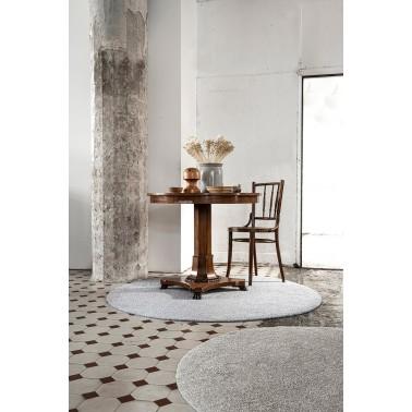 Sivý a béžový kusový koberec Viita fínskej značky VM-Carpet z vlny a ľanu