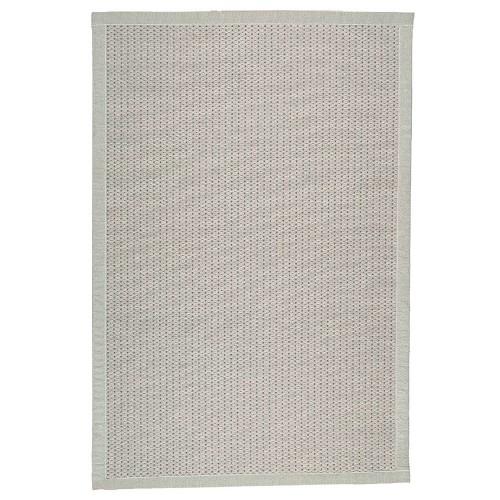 Sivý kusový koberec Valkea z vlny a papierového vlákna od fínskeho výrobcu VM-Carpet