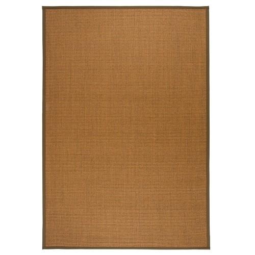 Hnědý kusový koberec Sisal z přírodního sisalu od finského výrobce VM-Carpet