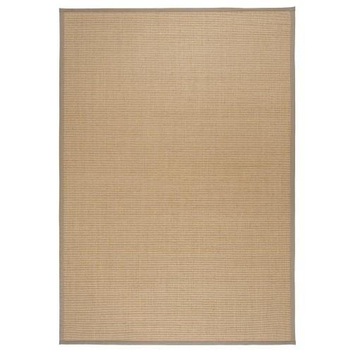 Béžový kusový koberec Sisal z přírodního sisalu od finského výrobce VM-Carpet