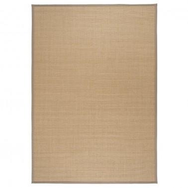 Béžový kusový koberec Sisal z prírodného sisalu od fínskeho výrobcu VM-Carpet