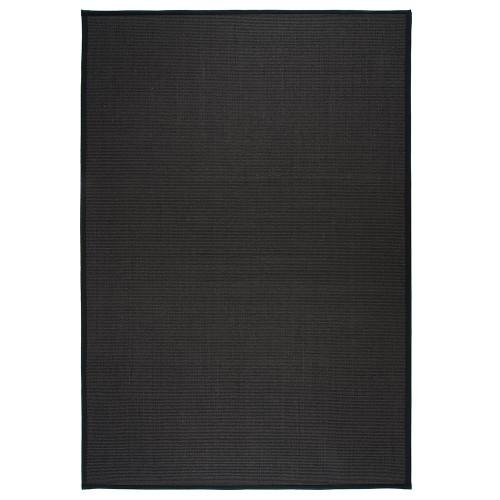 Čierny kusový koberec Sisal z prírodného sisalu od fínskeho výrobcu VM-Carpet