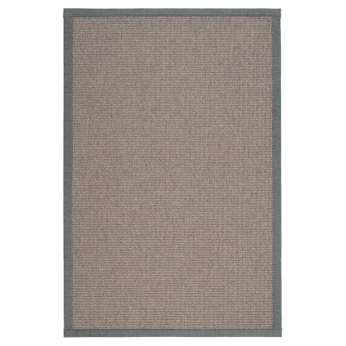 Sivý kusový koberec Tunturi fínskej značky VM-Carpet z vlny a papierového vlákna