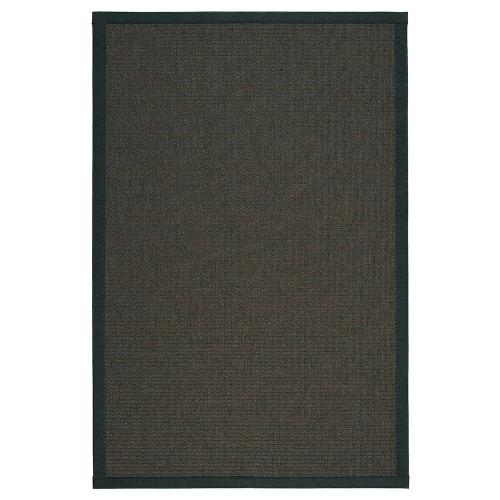 Čierny kusový koberec Tunturi fínskej značky VM-Carpet z vlny a papierového vlákna