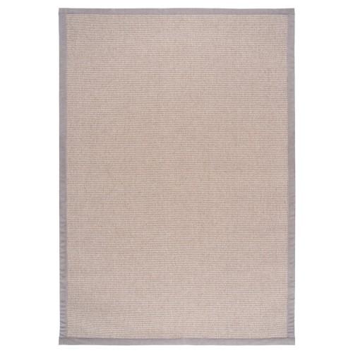 Béžový kusový koberec Esmeralda tkaný z vlny a papierového vlákna od fínskeho výrobcu VM-Carpet