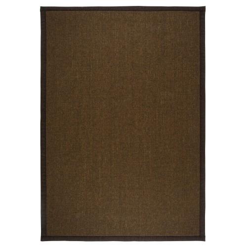Hnedý kusový koberec Esmeralda tkaný z vlny a papierového vlákna od fínskeho výrobcu VM-Carpet