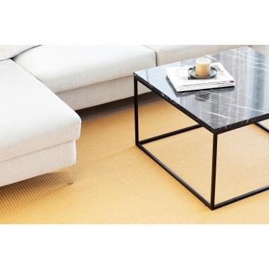 Žlutý kusový koberec Lyyra tkaný z bavlny a papírového vlákna od finského výrobce VM-Carpet
