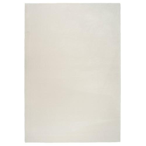 Biely kusový shaggy koberec z polyamidu Hattara od fínskeho výrobcu VM-Carpet