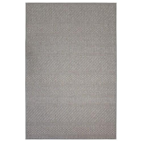 Sivý kusový koberec Matilda fínskej značky VM-Carpet z vlny a papierového vlákna