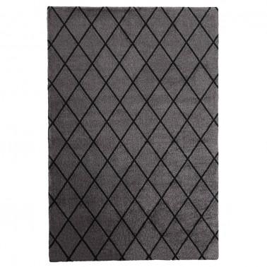 Tmavo sivý kusový shaggy koberec Salmiakki od fínskeho výrobcu VM-Carpet
