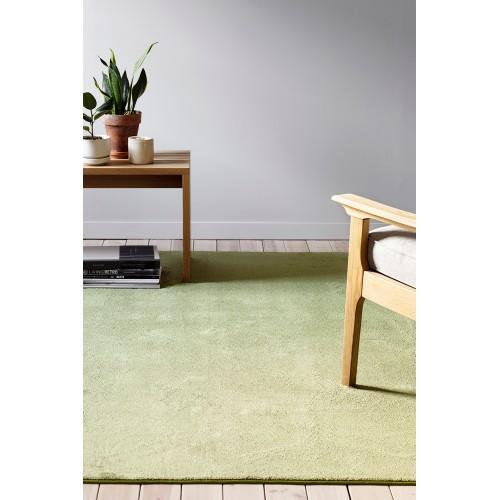 Zelený kusový shaggy koberec Satine od fínskeho výrobcu VM-Carpet