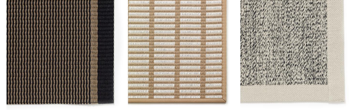 Typy lemování koberců Woodnotes